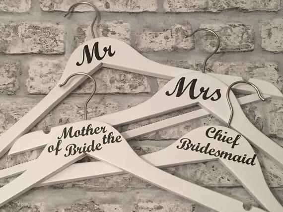 Wedding Hangers Set of Six