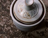 White Stoneware Canister ...