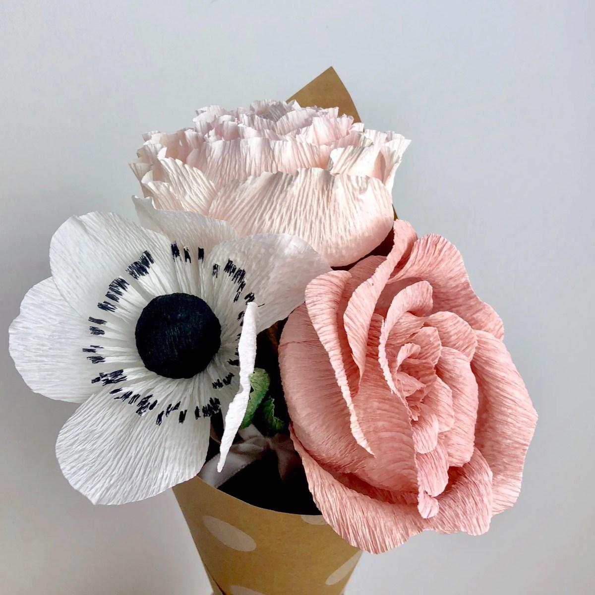 Pink Paper Flower Bouquet - SALE