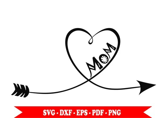 Download Arrow svg love mom heart clip art in svg png eps dxf