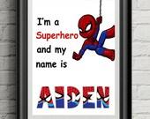 Spiderman Print, Personal...
