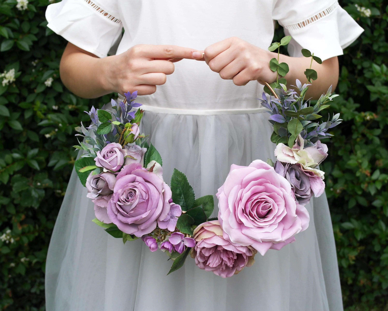 Flower Hoop Bridal Flower Hoop Modern Wreath Bridesmaid