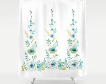 Mosaic Shower Curtain Ocean Wave Curtain Distant