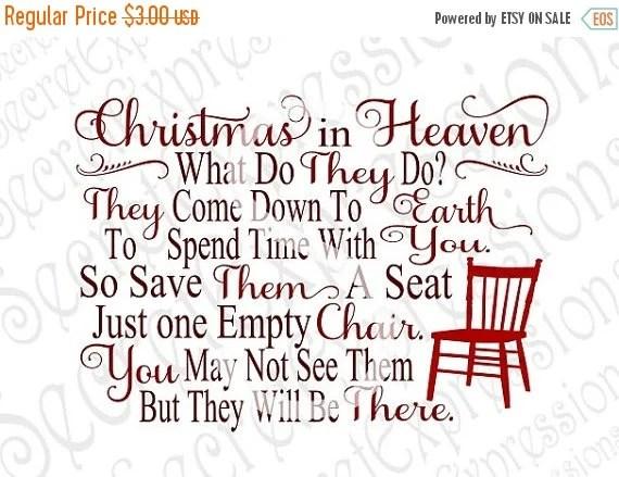 Download Christmas Heaven Svg Empty Chair Svg Sympath svg Christmas