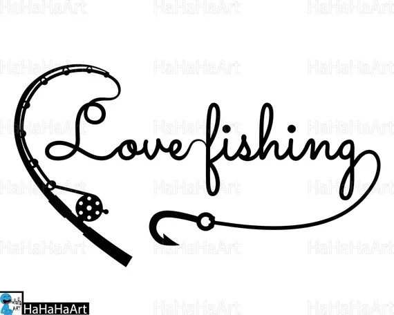 Download Love fishing Clipart / Cutting Files svg png jpg dxf studio3