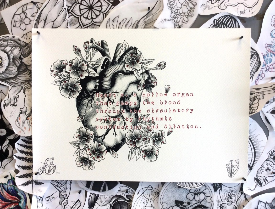 A3  Anatomical Heart with...