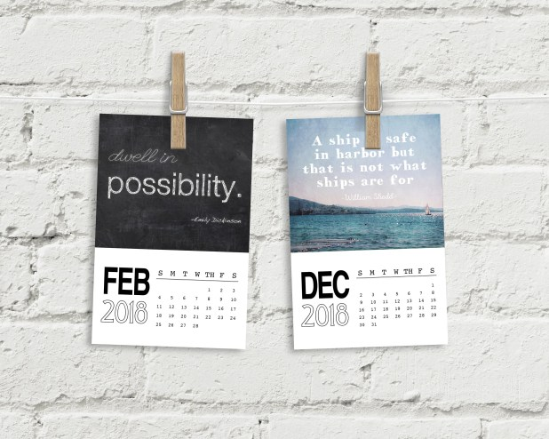Quotes 2018 Calendar Awesome 2018 Calendar Quotes  Christmas Gifts