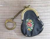 Tiny petit point wallet, ...