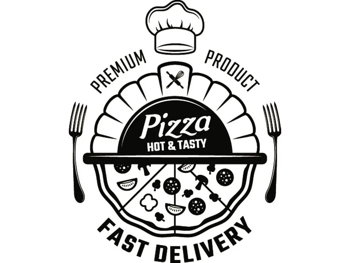 Pizza Logo Delivery Food Italian Pizzeria Salami Meal