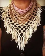 Triangle Chain Mesh Scarf...
