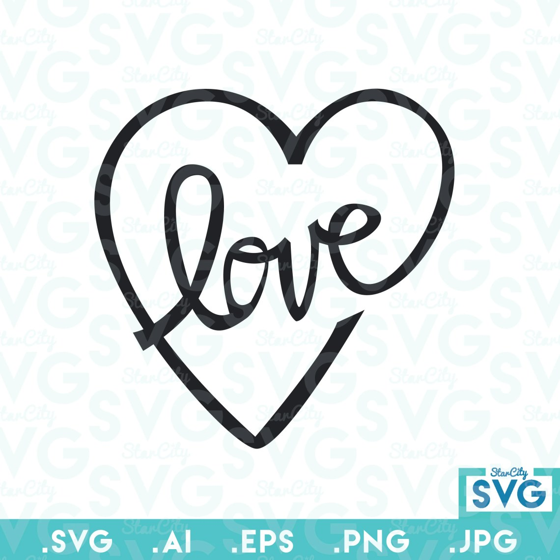 Download Love Vector file Vector cutting file SVG cutting file Love