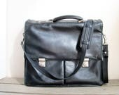 Black leather attache by ...