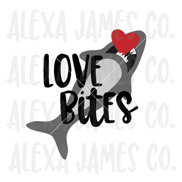 Download Valentine svg, Love Bites svg, Shark Love svg, SVG Cut ...