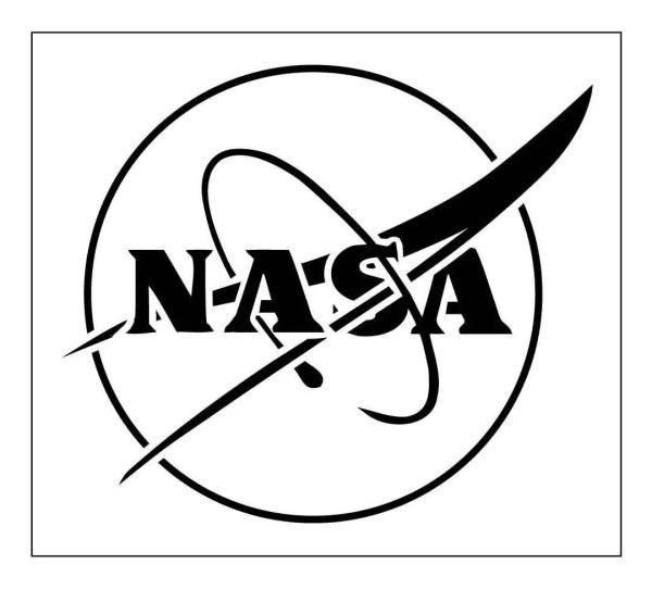 LOGO Reusable Laser-Cut Mylar Stencil NASA