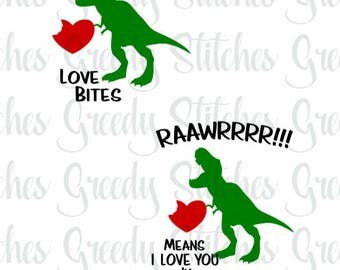 Download Dinosaur love card   Etsy