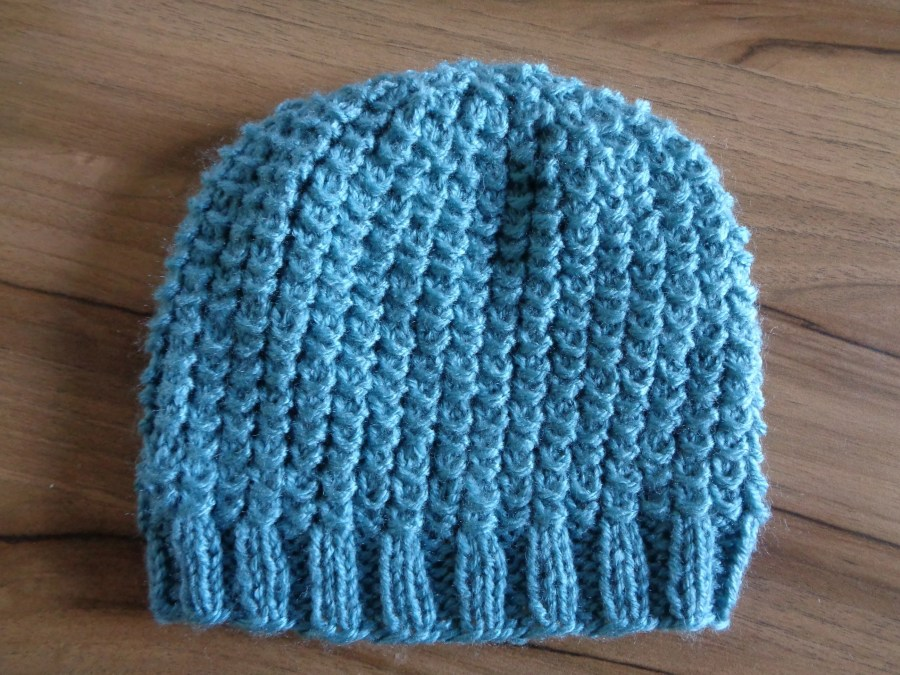 Hand Knitted Blue Baby Be...