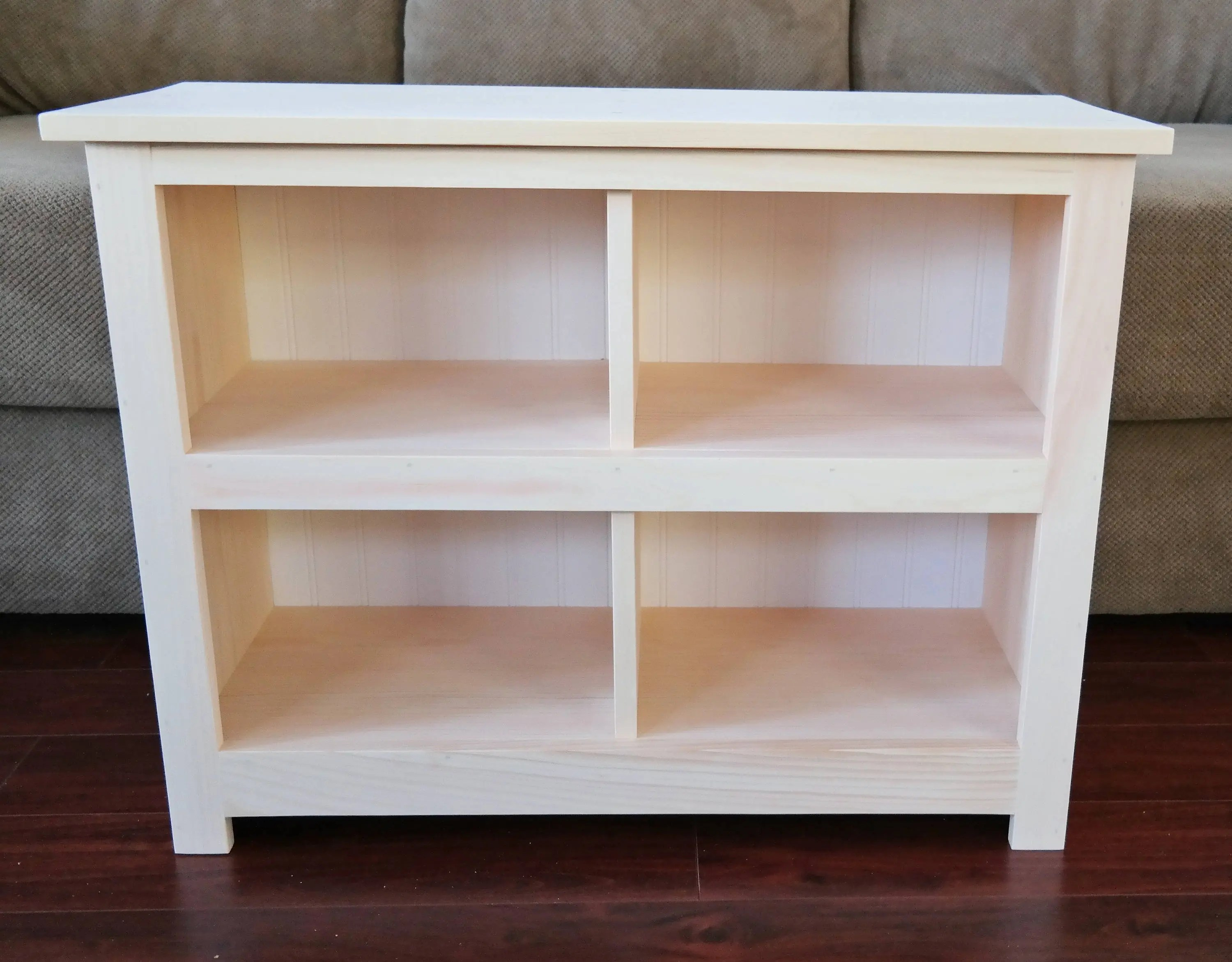 Unfinished Cubby Storage Bench