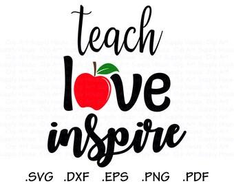 Download Live love teach svg | Etsy
