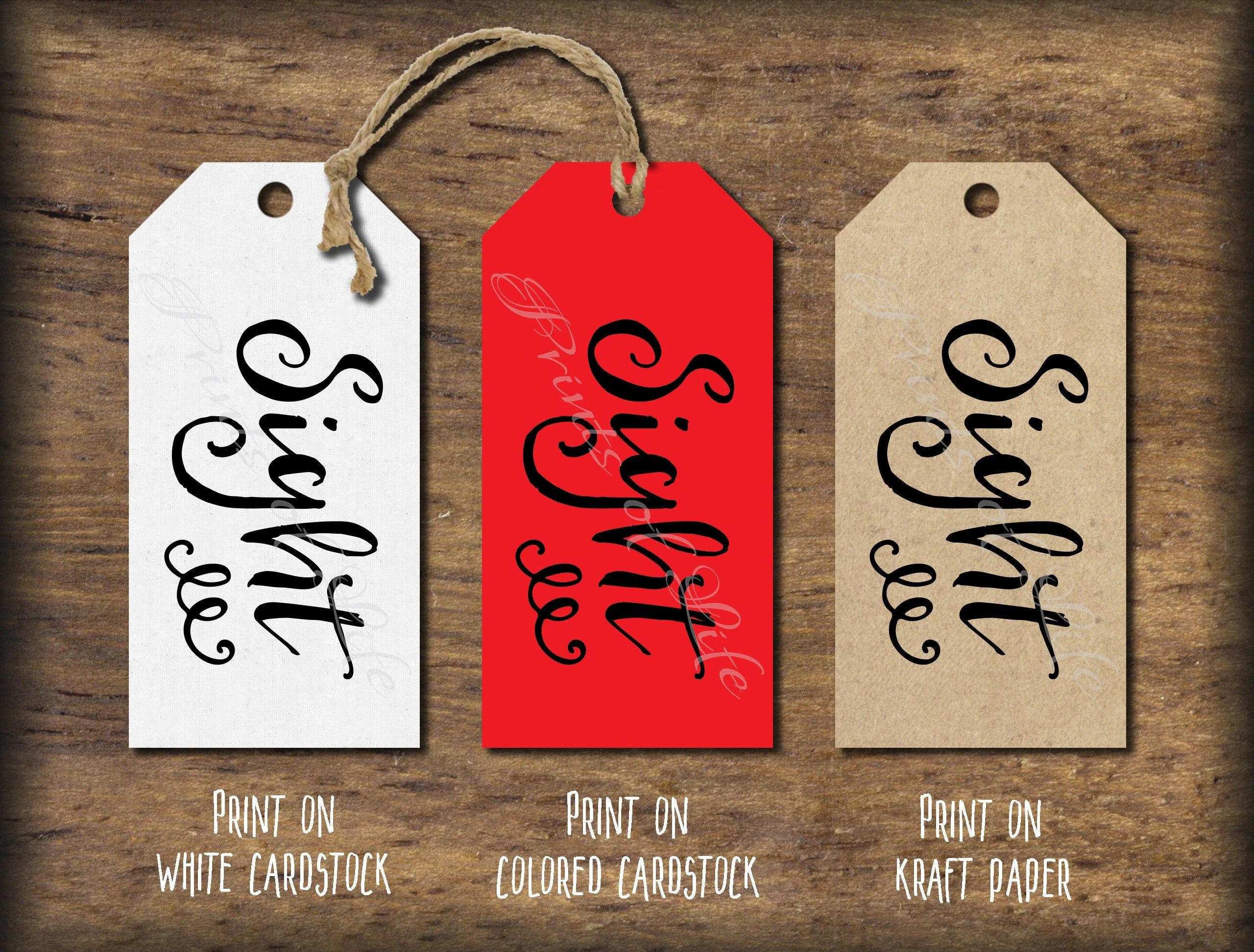 Five Senses Gift Tags Amp Card 5 Senses Instant Download