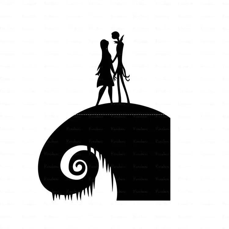 Download Nightmare before Christmas svg jack and sally loveCut files