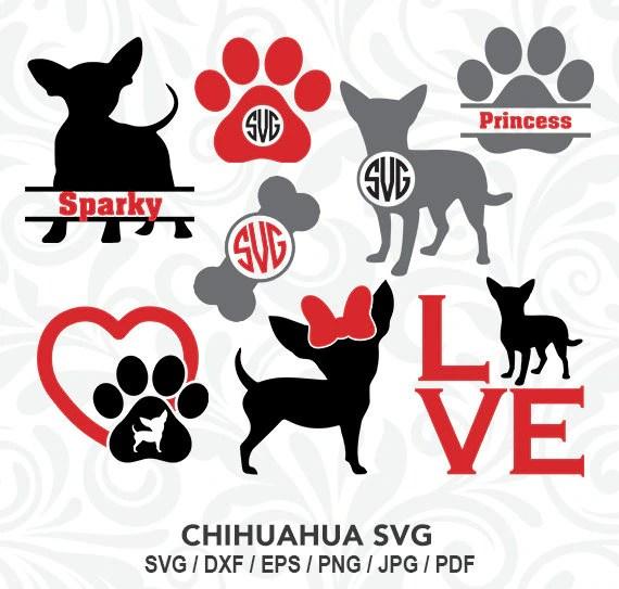 Download Chihuahua SVG Chihuahua Monogram Files Chihuahua Love