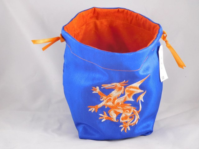 Orange Dragon embroidered...