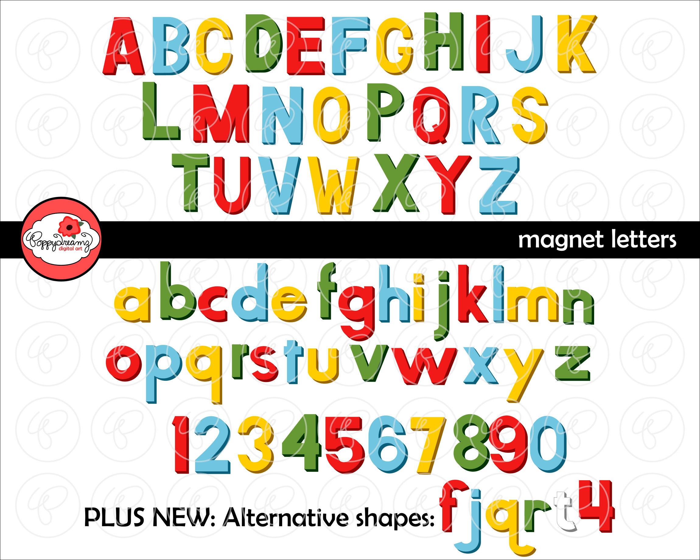 Magnet Letters Alphabet Clip Art Pack 300 Dpi Transparent