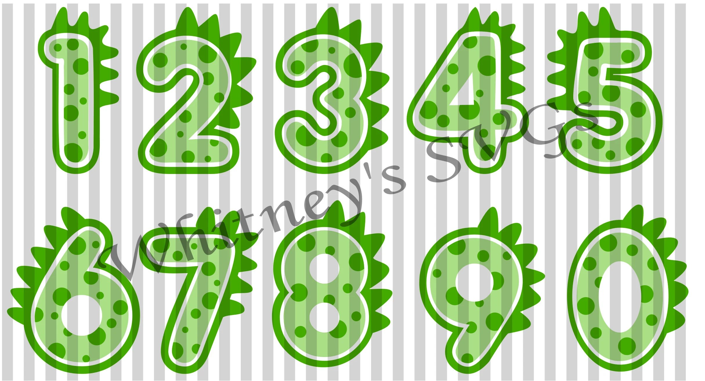Dinosaur Number Collections Numbers 0 9 Svg Dxf Cutting File
