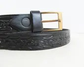 Black leather belt 37&quo...