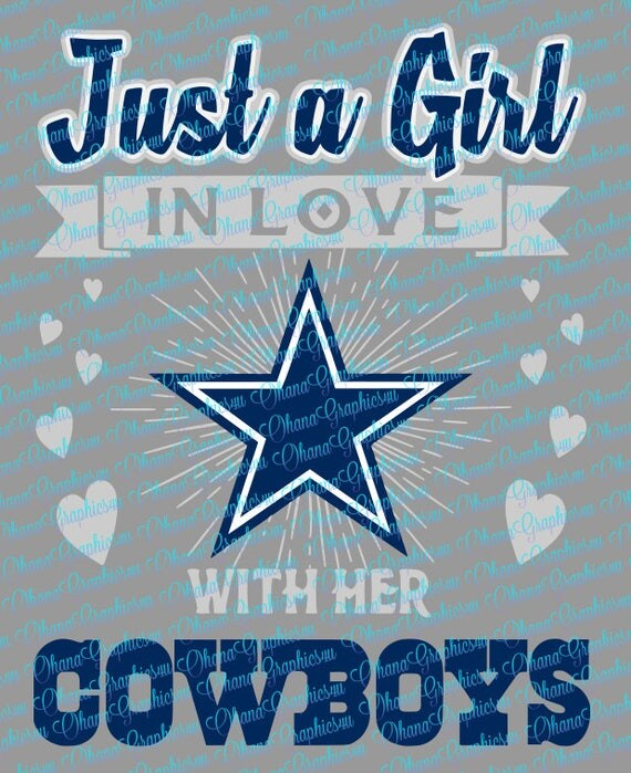 Download Just a Girl In Love with Her Cowboys SVG