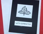 With Sympathy card, leaf ...