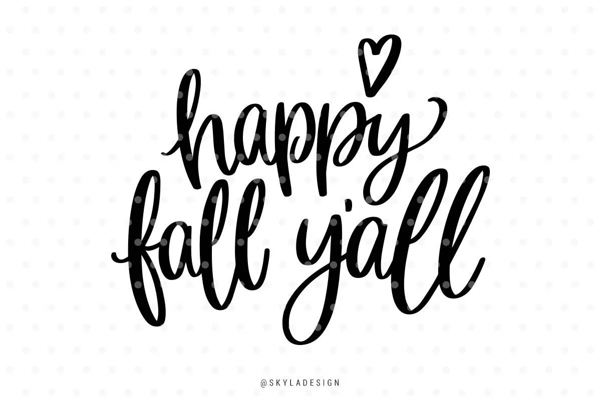 Happy Fall Yall Svg Files Svg Clipart Autumn Svg Fall Svg