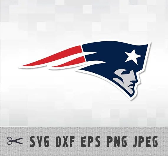 Download New England Patriots SVG PNG DXF Logo Layered Vector Cut File