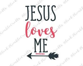 Download Jesus loves me svg   Etsy