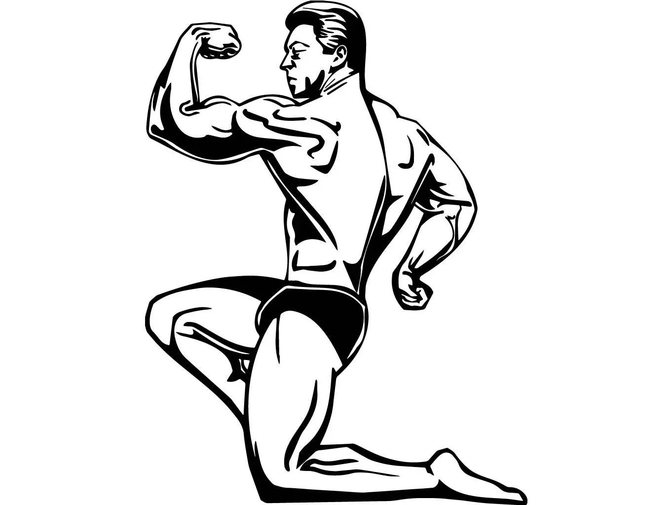 Bodybuilder 19 Bodybuilding Logo Front Pose Weightlifting
