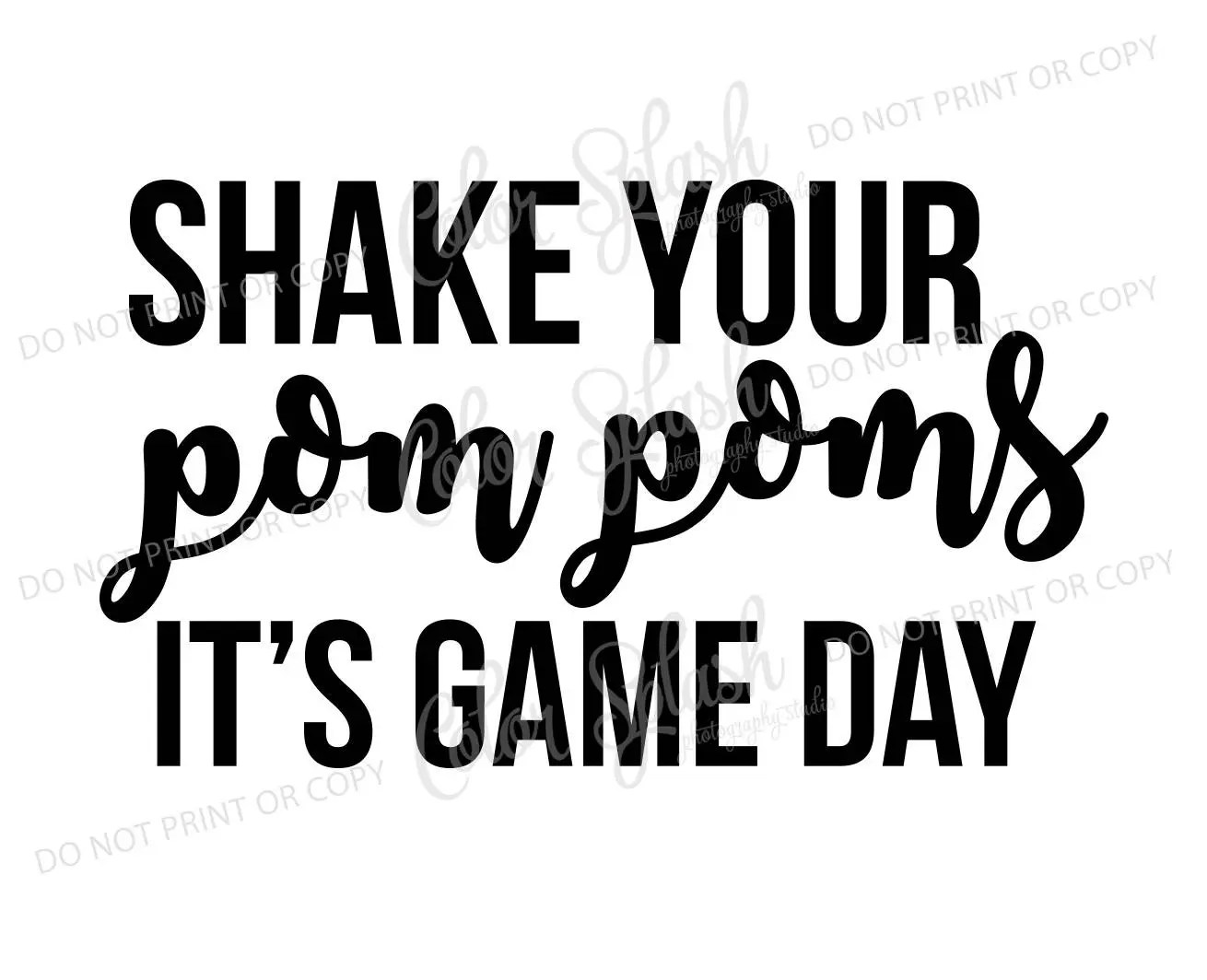 Shake Your Pom Poms It S Game Day Svg Dxf Eps Mom