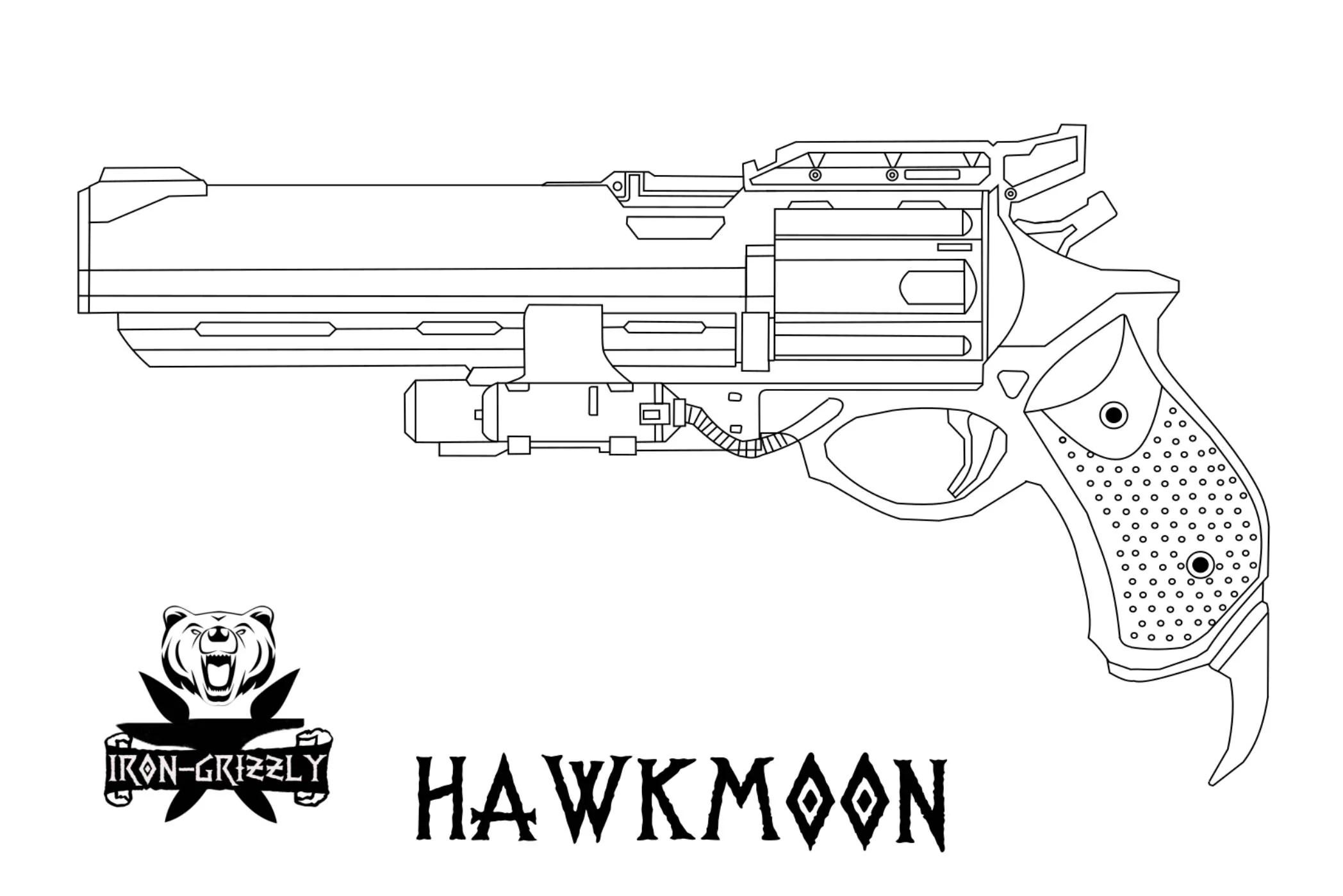 Destiny Hawkmoon Hand Cannon Blueprint