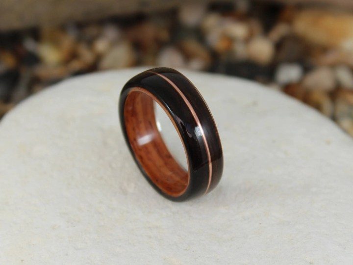 Bent Wood Ring -Ebony and...