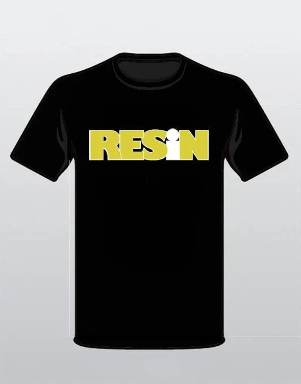 RESiN Black T-SHIRT with ...