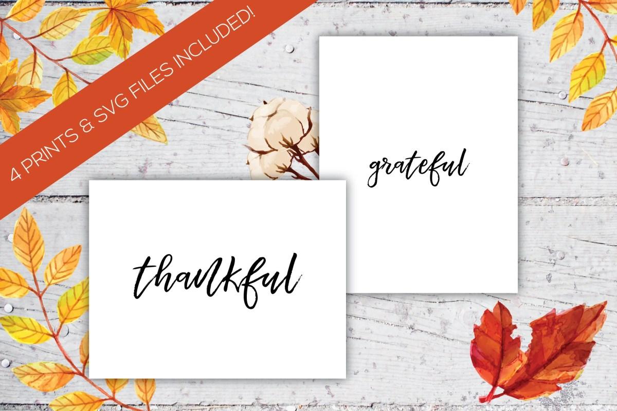 Grateful And Thankful Han...
