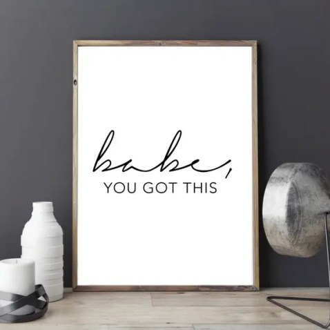 This wall art is such a unique Valentine's Day gift for her!