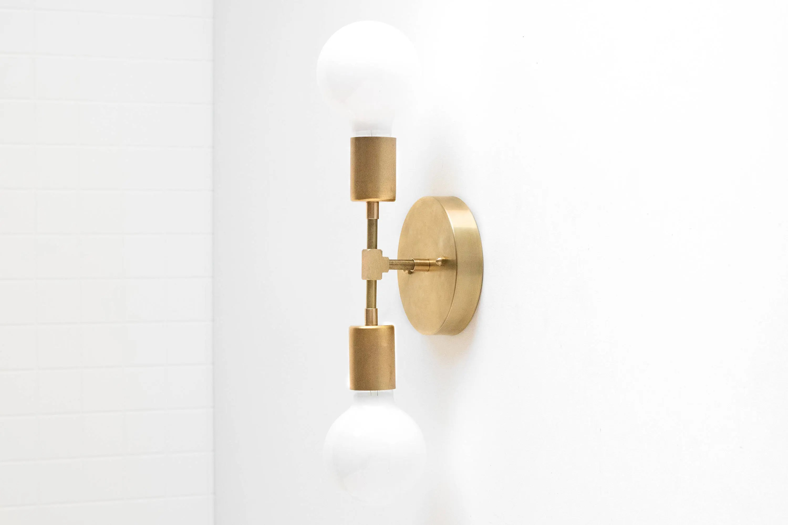 Gold Wall Sconce Modern Wall Lamp Industrial Light Bare on Bathroom Wall Sconce Lighting id=51114