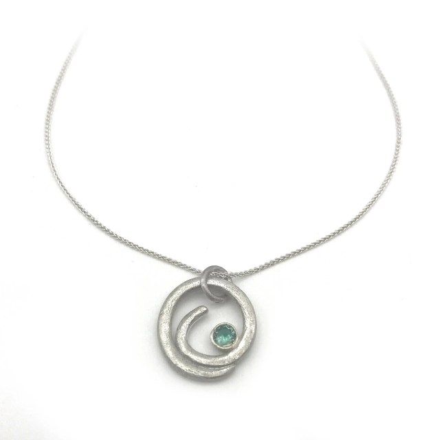 Ocean Wave Necklace   Sil...
