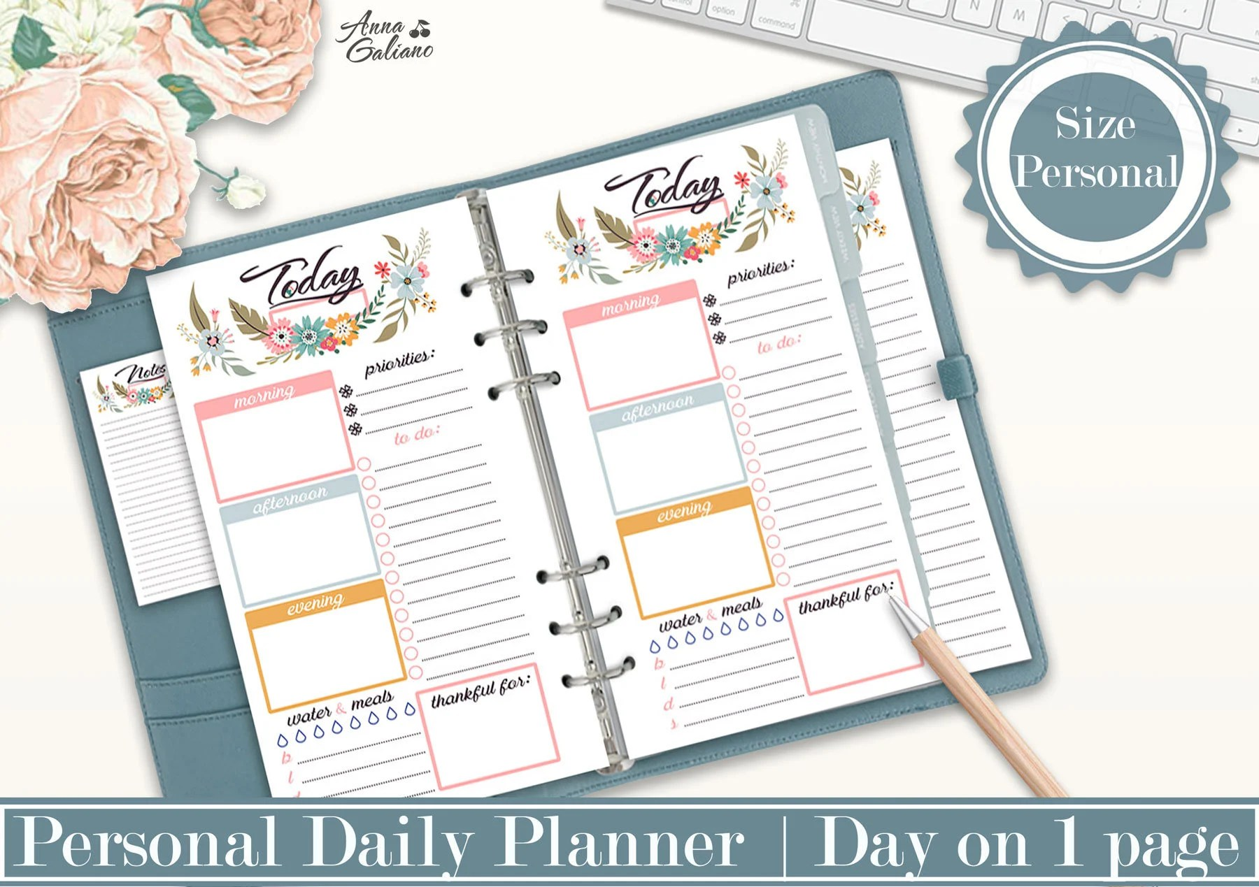 Personal Planner Inserts Daily Planner Printable Planner