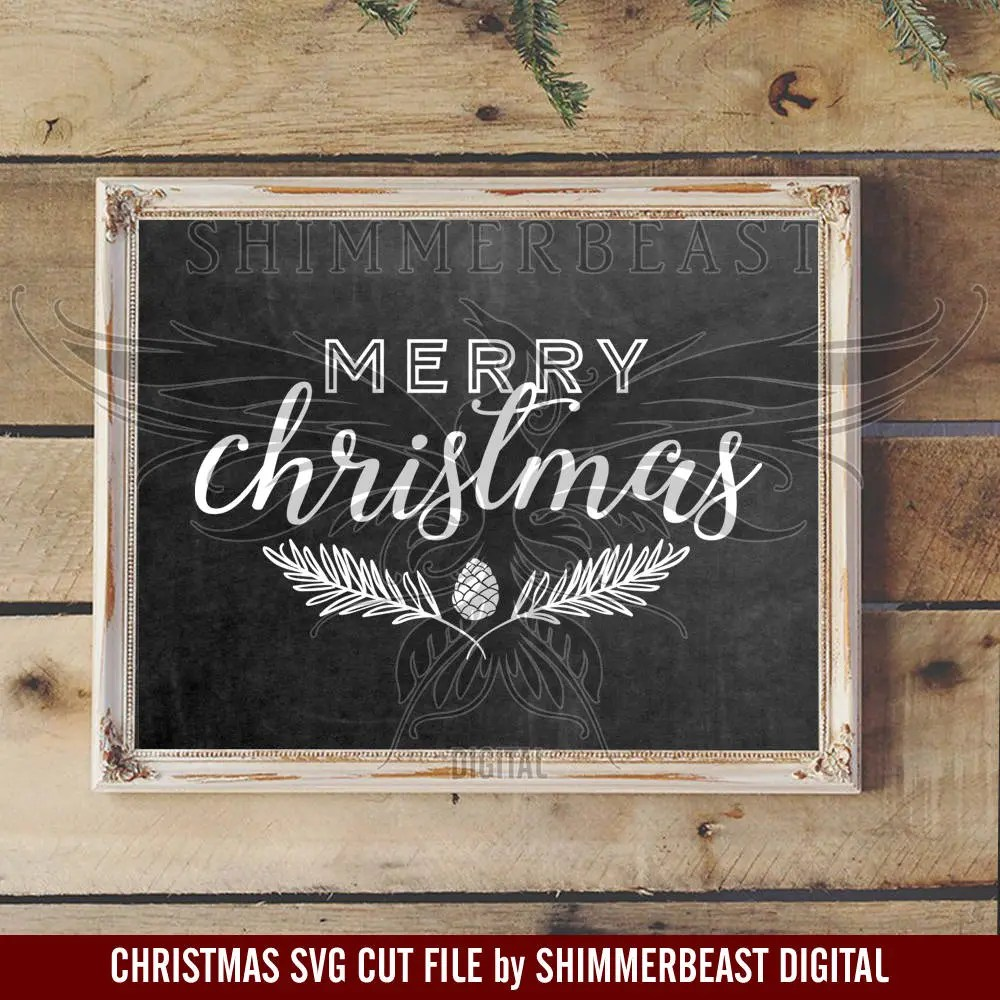 Christmas SVG Cut File Merry Christmas Svg Farmhouse