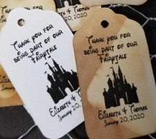 Thank You for being a part of Our Fairy Tale wedding favor