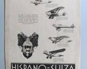 Hispano Suiza print, Vint...