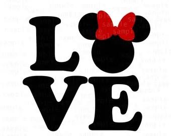 Download Love minnie svg | Etsy