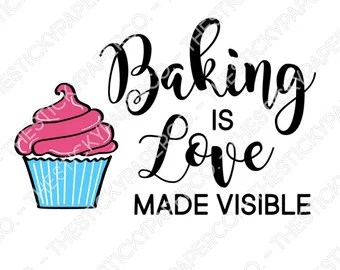 Download Bake with love | Etsy