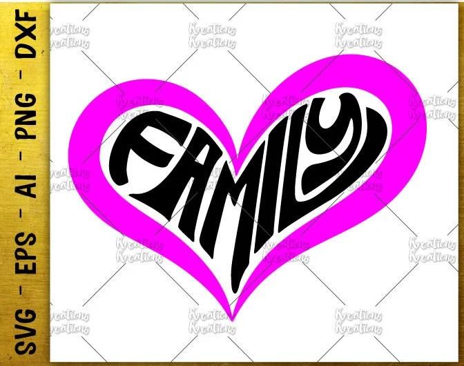 Download Family SVG family heart shape svg love family svg cut ...